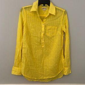 NWOT Merona yellow stripe button down shirt XS